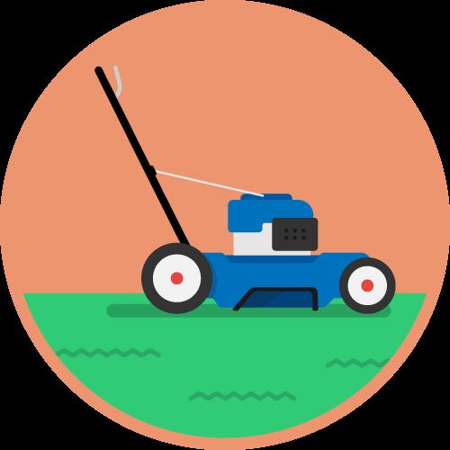 Dot Pixel - We Compete - Illustration - Lawnmower