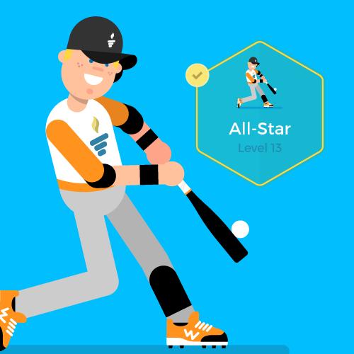 Dot Pixel - We Compete - Illustration - All-Star