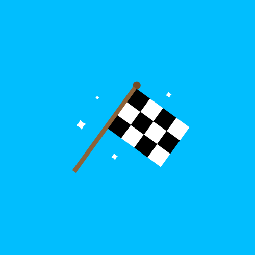 Dot Pixel - We Compete - Illustration - Checker Flag