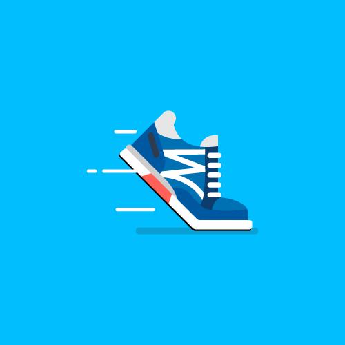Dot Pixel - We Compete - Illustration - Sneaker