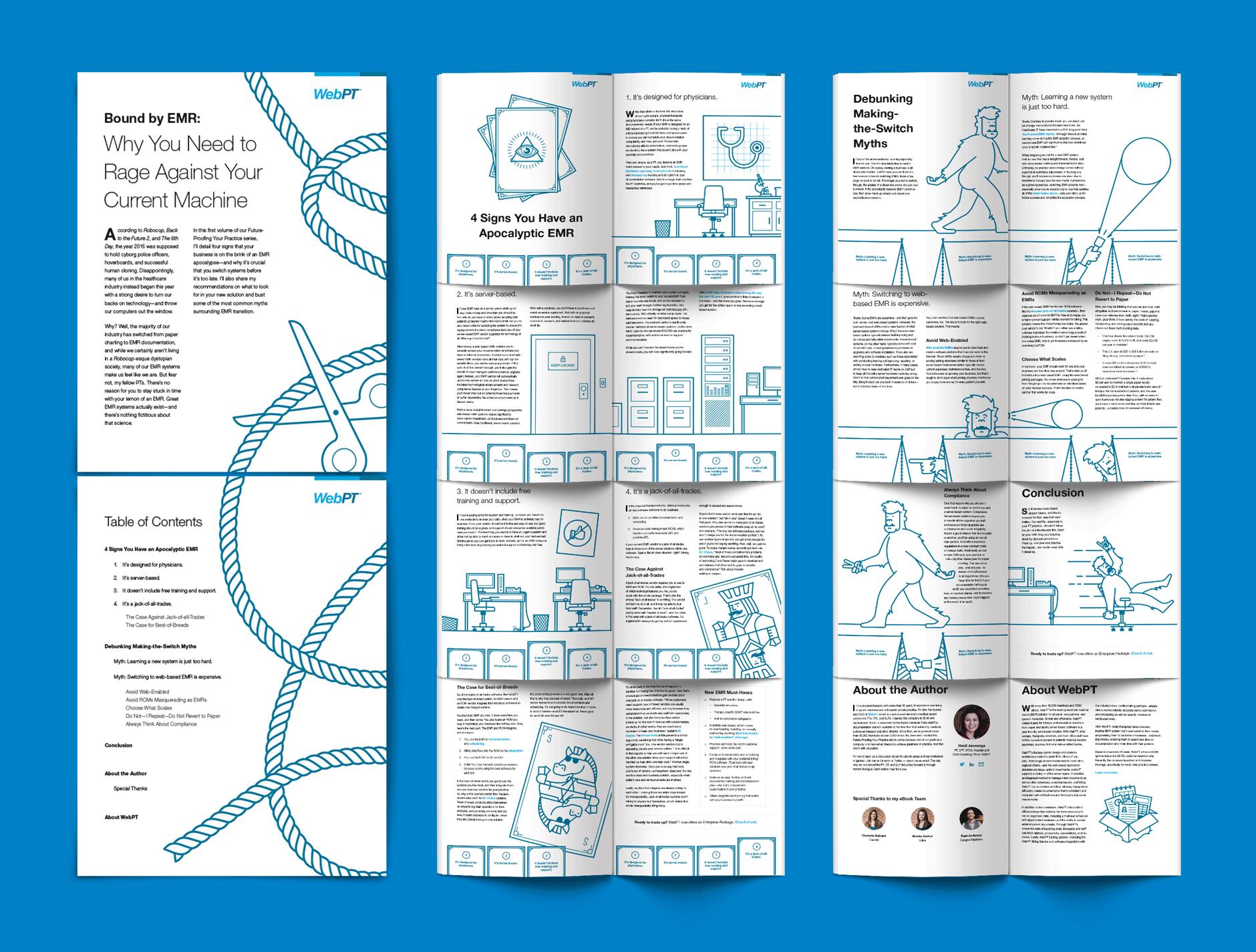 Dot Pixel - WebPT - Bound by EMR - Sales/Marketing Collateral Design