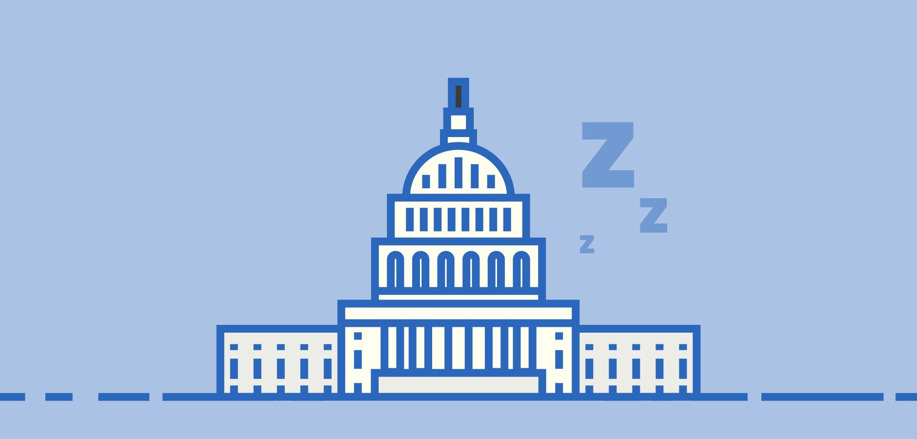 Dot Pixel - Illustration - Senate Sleeps