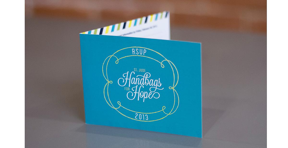 Dot Pixel - St. Jude Handbags for Hope Invite Design
