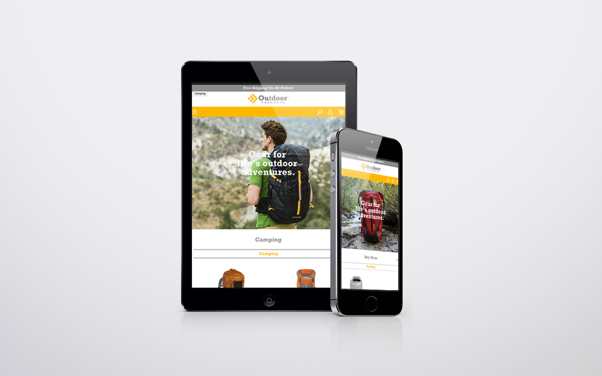 Dot Pixel - Outdoor Products - Website E-commerce Categories Page Design