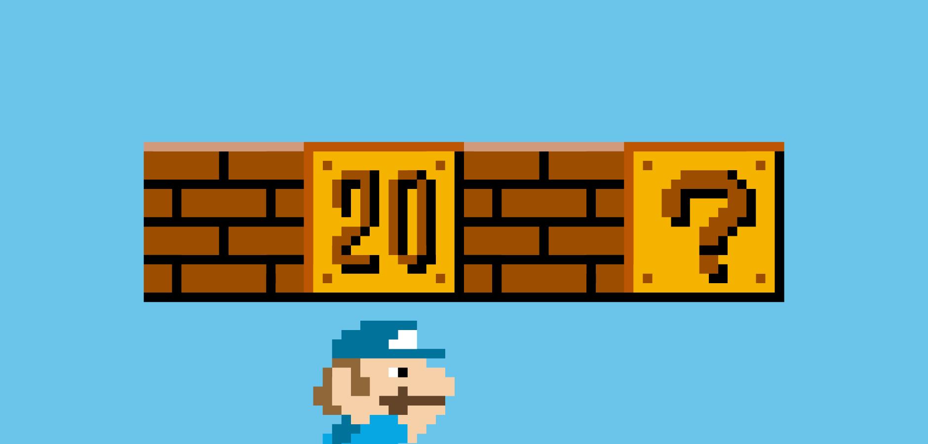 Dot Pixel - Illustration - Mario +20