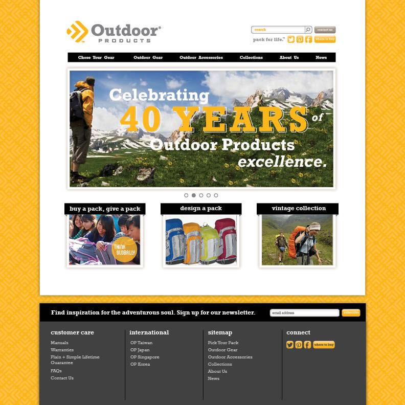 Dot Pixel - Outdoor Products - Corporate Website Design