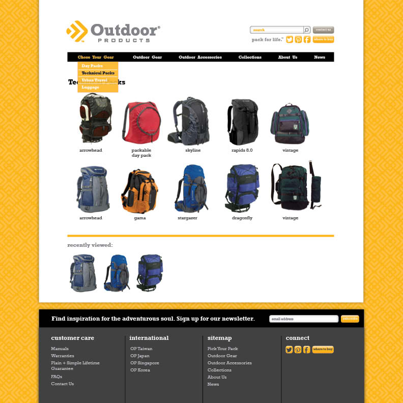 Dot Pixel - Outdoor Products - E-commerce Website Redesign