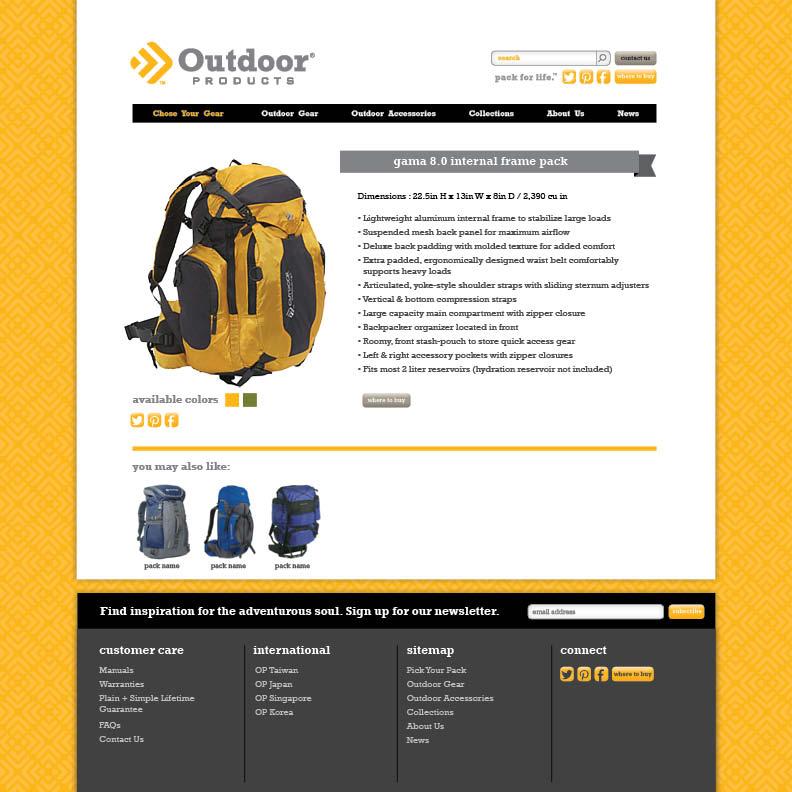 Dot Pixel - Outdoor Products - E-commerce Website Design