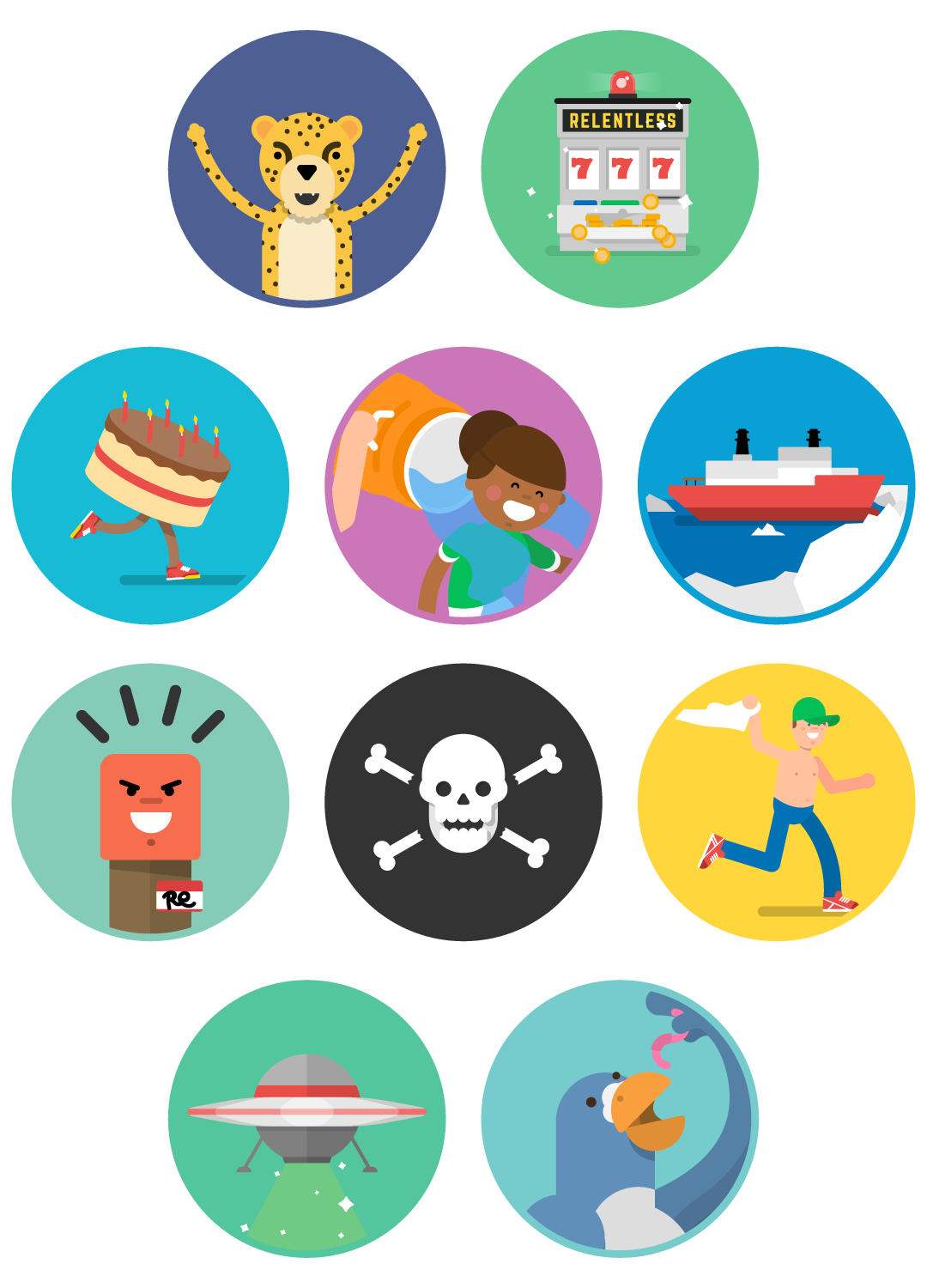 Dot Pixel - We Compete - Illustration Collection 2
