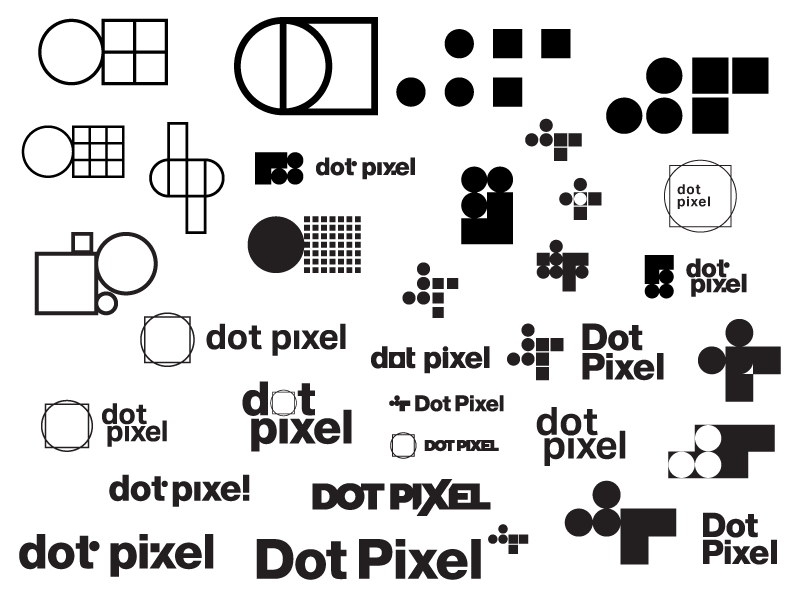 Dot Pixel Design, Illustrator Logos Artboard Square