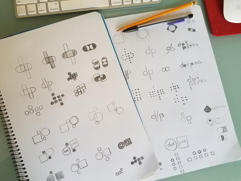 Dot Pixel Design, Logo Sketches