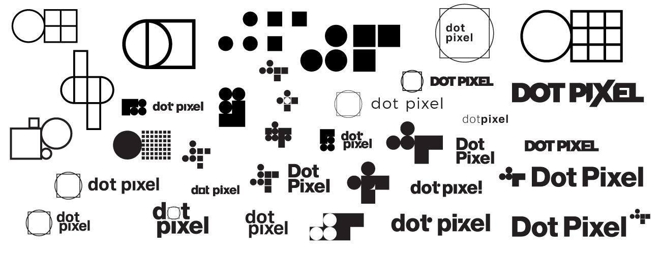 Dot Pixel Design, Illustrator Logos Artboard